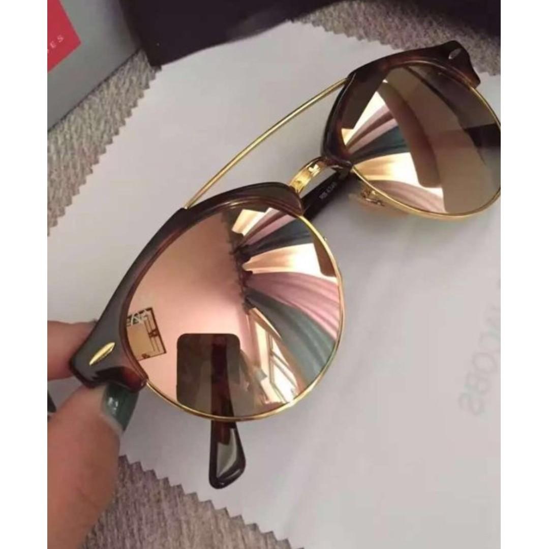 【全新正貨私家珍藏】雷朋太陽鏡Rayban代購 男女蛤蟆墨鏡 RB4346 粉色