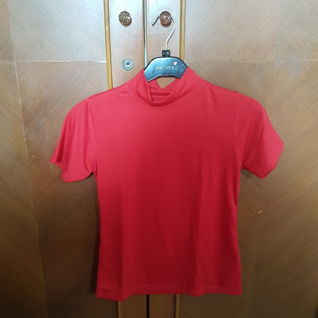 Red Highneck Merah Kaos
