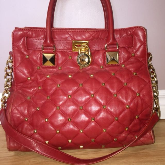 Red Michael kors bag- authentic