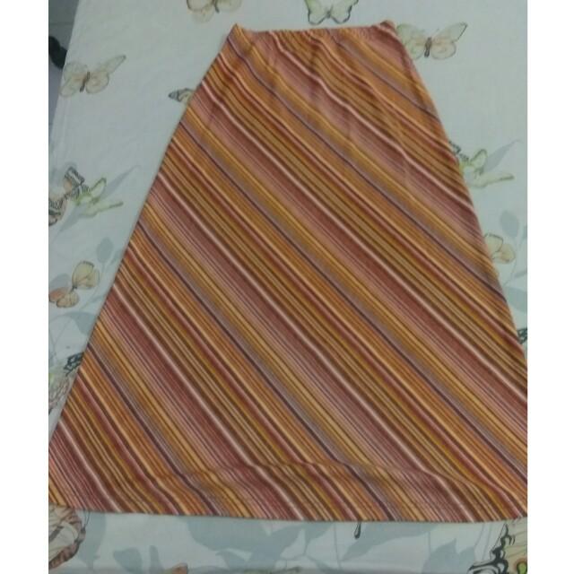 Rok span stripes coklat