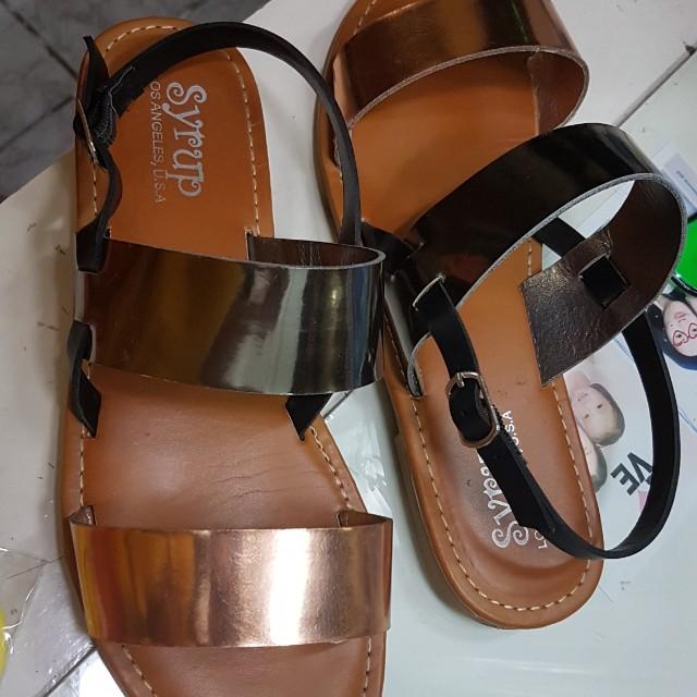 Rose Gold 2-strap Sandals