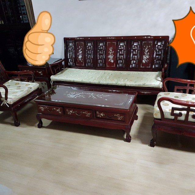 Rosewood Sofa Set Furniture Home Decor Antiques On Carousell