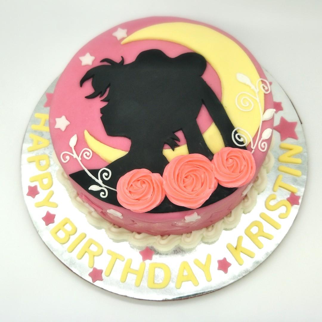 Sailor Moon Cake Customized Fondant Cake Food Drinks Baked Goods