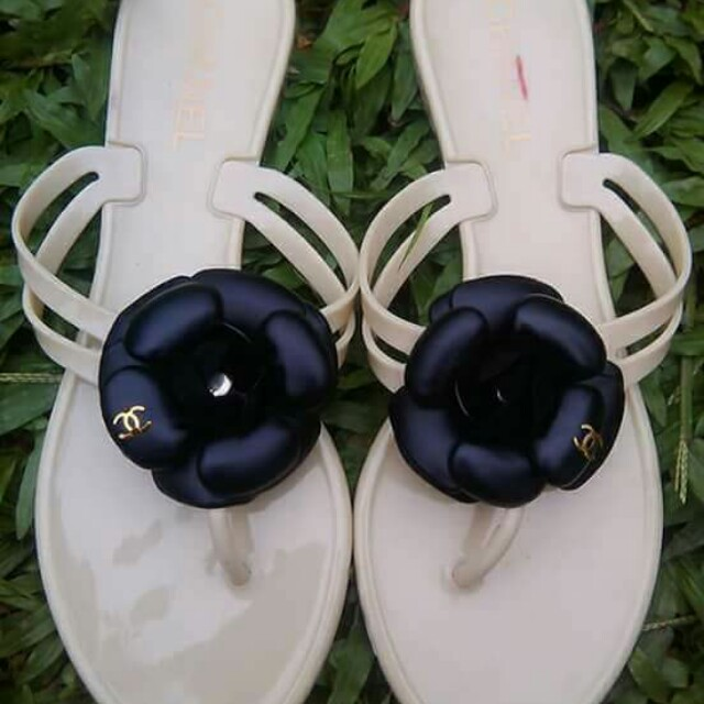 Sandal chanel jelly camelia sz 38
