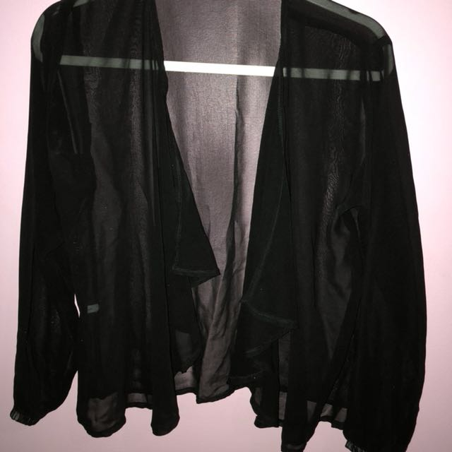 Sheer Chiffon Black Outer