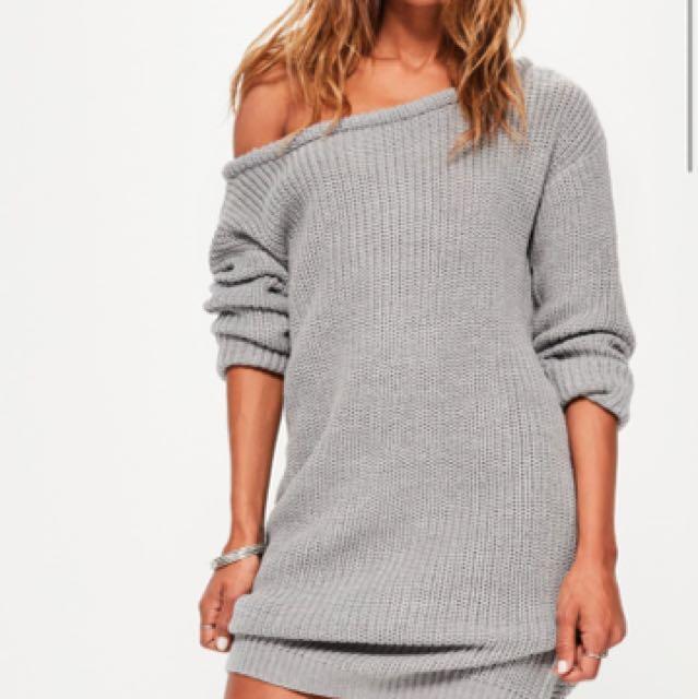 S/M Grey Sweater Dress