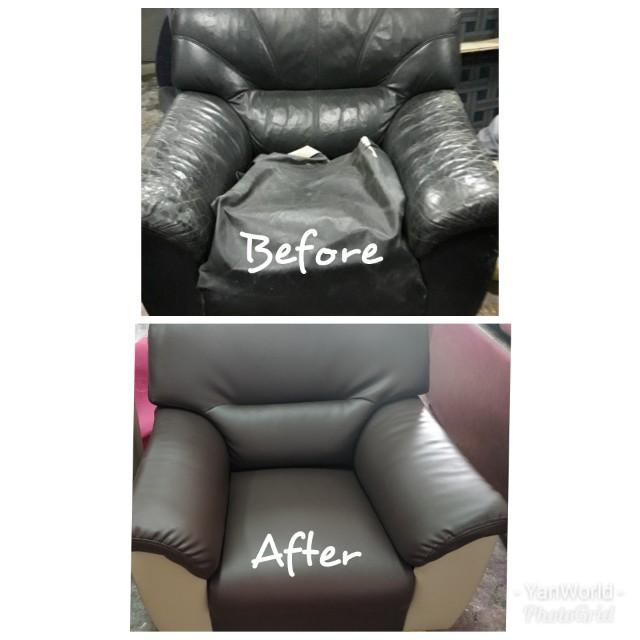 Sofa Refurbish Renew Repair Reupholstery Baikpulih Sofa 翻新沙发 on Carousell