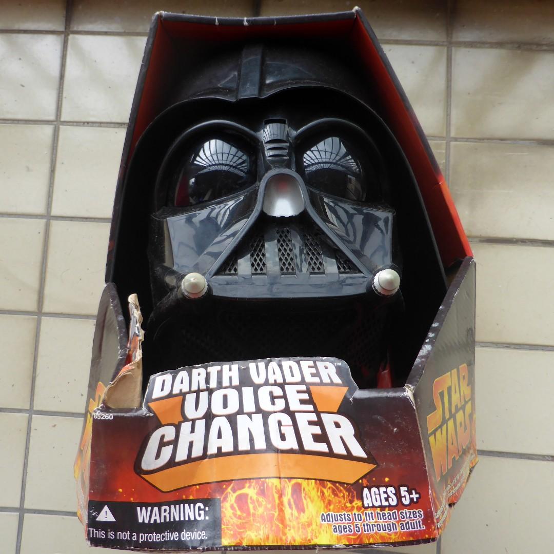 Star Wars Revenge Of The Sith 2005 Darth Vader Helmet Voice Changer Hasbro Toys Games Bricks Figurines On Carousell