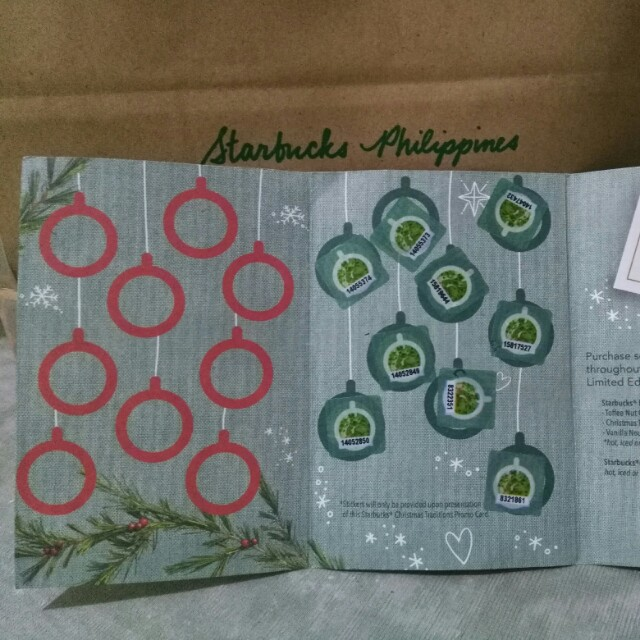 Starbucks planner sticker card half-full
