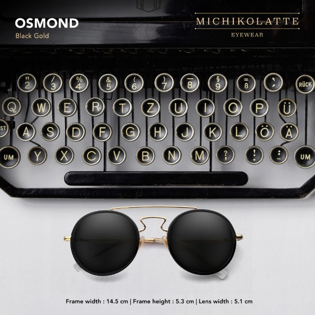 Sunglasses MICHIKOLATTE Osmond Black Gold