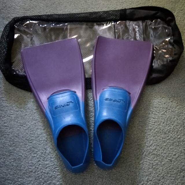 Swimming Purple and Blue Flippers