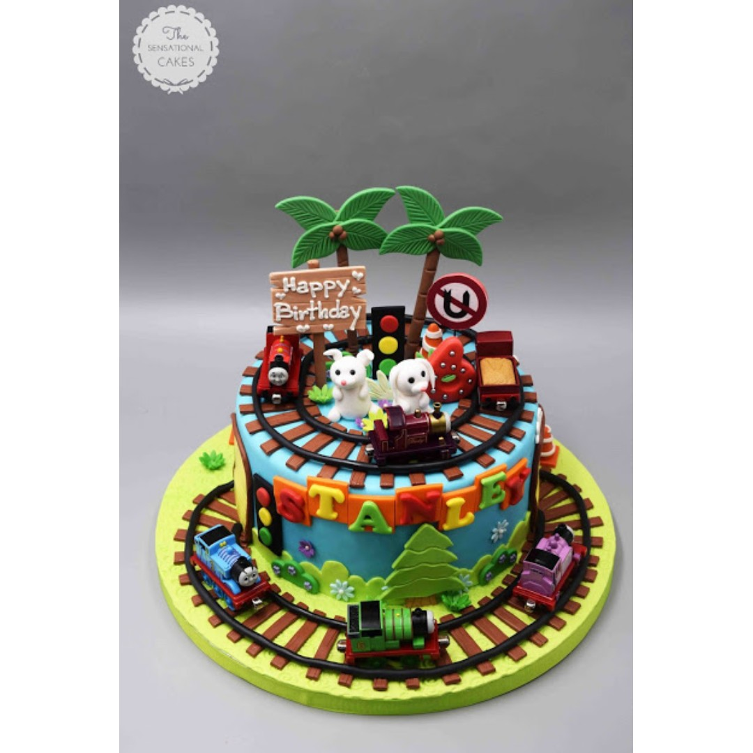 Thomas And Friends Theme Boy Birthday 3D Cake Singapore Food Drinks Baked Goods On Carousell