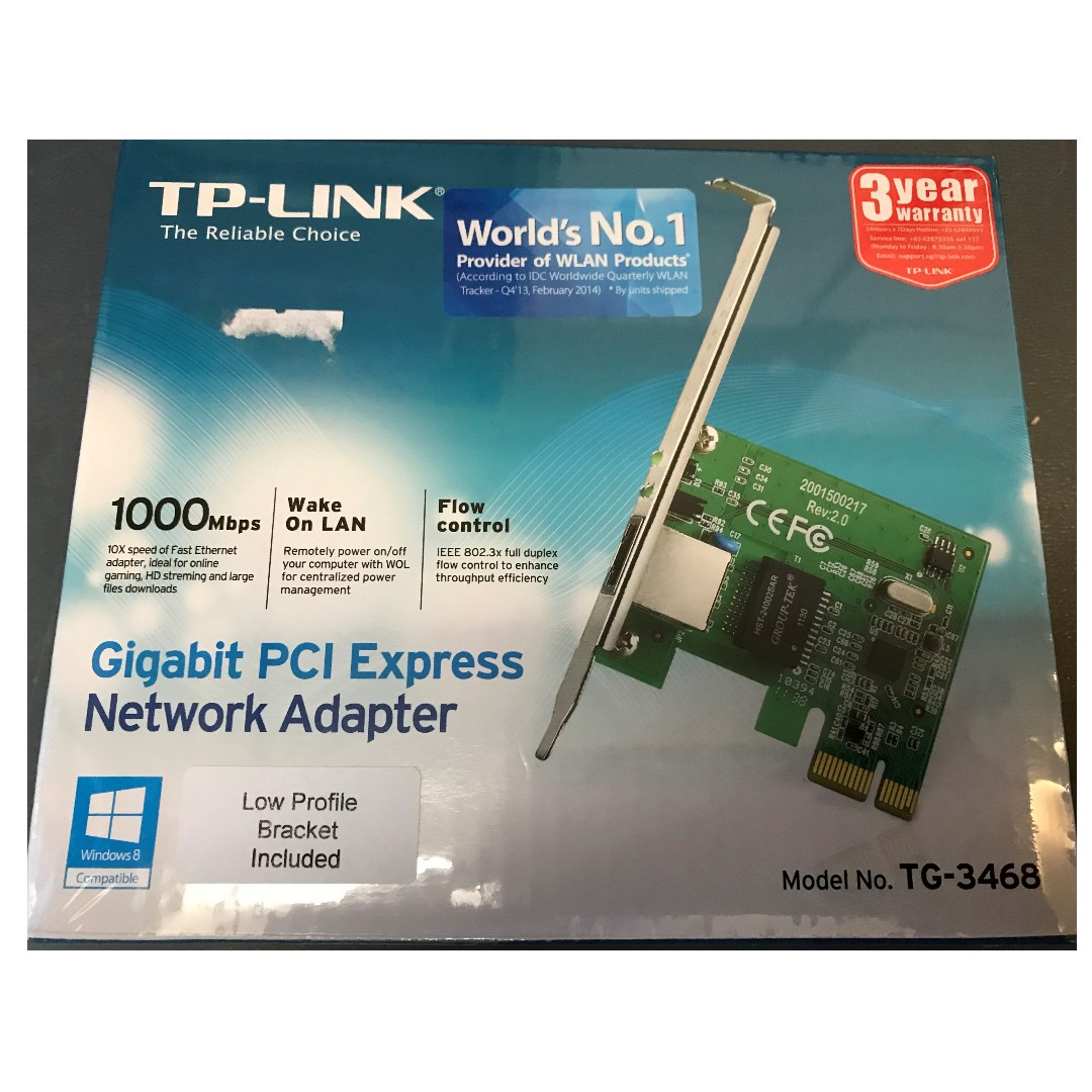 Tp Link Network Adapter Pci Express Tg3468 Electronics Tg 3468 Gigabit Photo