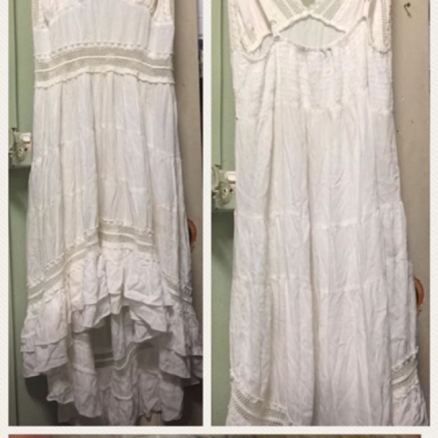 Tree of Life White Dress - Size M(10)