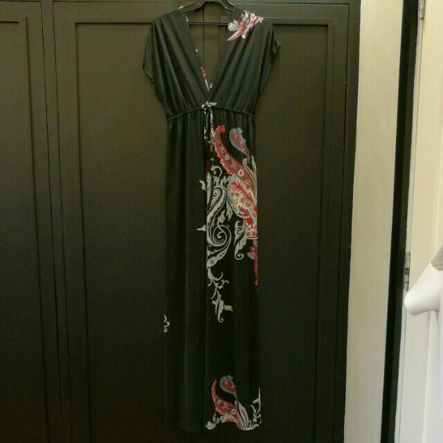 Unbranded Black Printed Maxi Dress