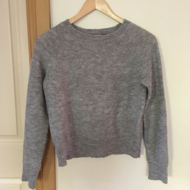 Uniqlo grey mohair blend sweater