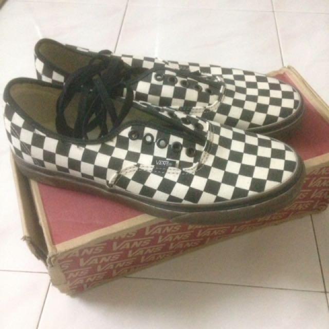 4ce6a755b413ab Vans checkerboard gumsole