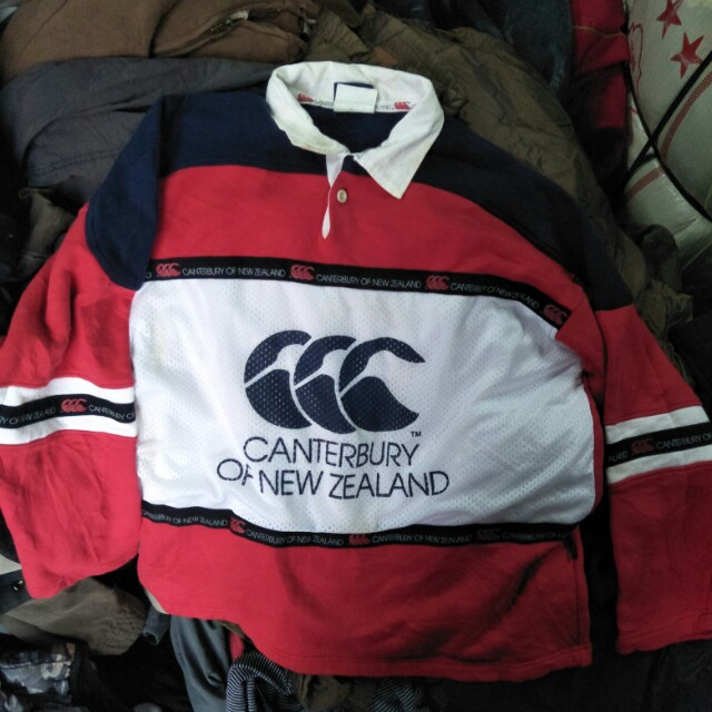 0c7cfb2ef3e Vintage big logo canterbury of new zealand rugby shirt, Men's Fashion,  Clothes, Tops on Carousell