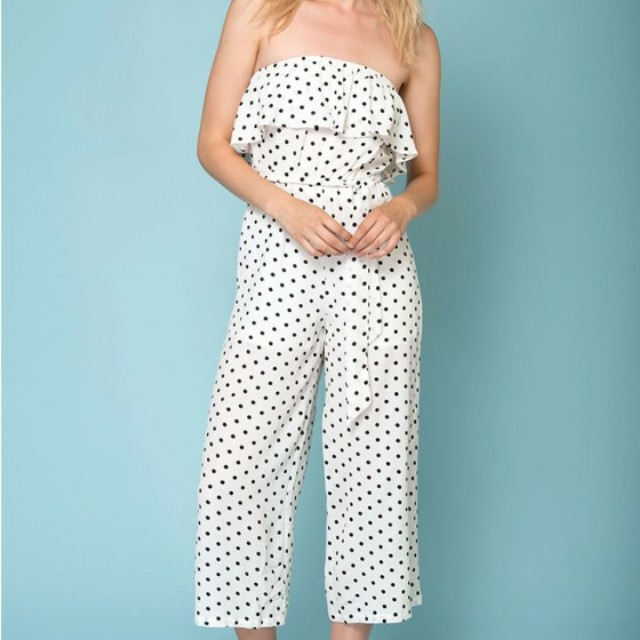 Wynter Casual Polka Dot Jumpsuit (size 12)