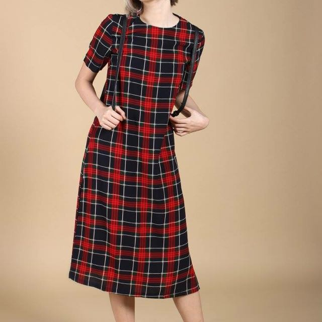 YoungHungryFree Caught On You Dress in Plaid (YHF)