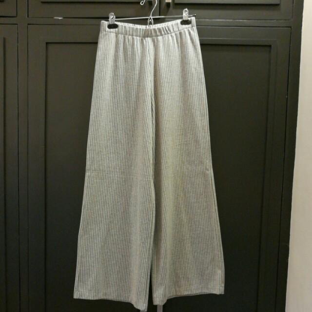 Zara TRF Grey Wide Leg Pants