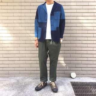 日本品牌 m2squared 單寧 拼接 西裝外套