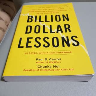 Book - million dollar lessons