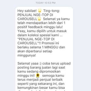 Penjual Nge-Top di Carousell for the 3nd time