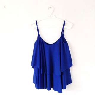 The Royal Blue Ruffle Top