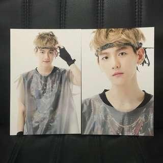 EXO Baekhyun Pop Up Store Postcard