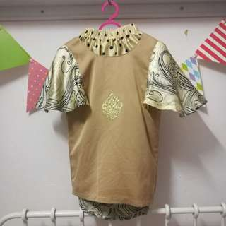 Butterfly Kurung Gold