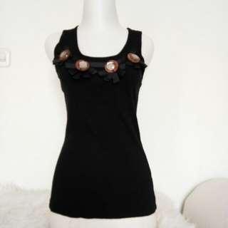 Tanktop Zara warna hitam sz M