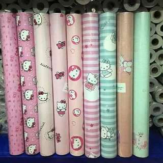 Hello kitty Adhesive Wallpaper ,Rubberized en Waterproof