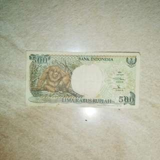 Uang Kuno 500 Monyet