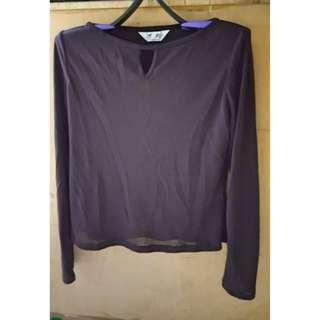 🚚 紫色網紗內搭上衣