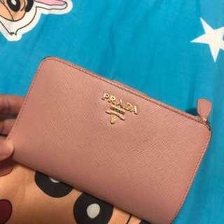 粉紅Prada 銀包