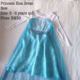 Princess Elsa dress for 5-6 years old. Price negotiable