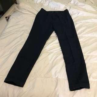 Zara basic pants office navy