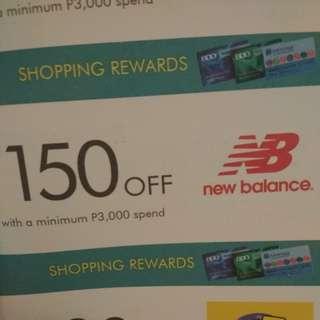 New balance voucher