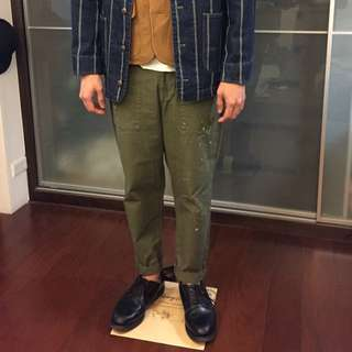 United arrows & sons 潑漆 貝克褲 baker pants