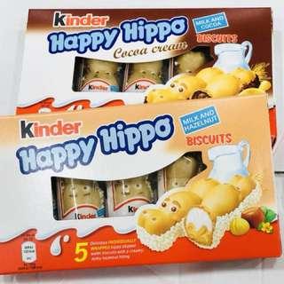 Kinder happy hippo河馬朱古力(牛奶榛子/牛奶朱古力味)