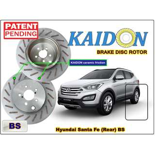 "Hyundai Santa Fe brake disc rotor KAIDON (REAR) type ""BS"" / ""RS"" spec"