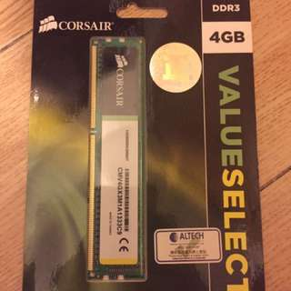 Corsair 4GB DDR3 1333Mhz 100%New