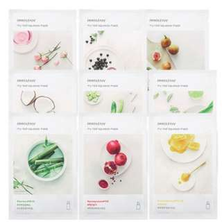 10 PACK INNISFREE It's real squeeze masks