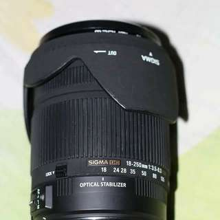 Sigma 18-250mm DC OS HSM Canon mount