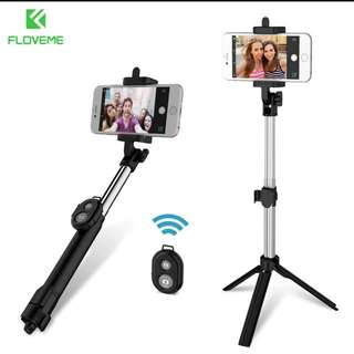 FLOVEME Tripod Bluetooth Selfie Stick For iPhone 5 5S 6 6S 7 8 Plus 10 X Remote Handheld Monopod For IOS & For Android 4.2 Above