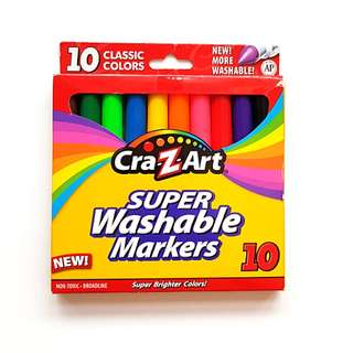 Wasable markers for kids