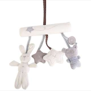 Rabbit Music Plush Toy Seat Pendant For Baby