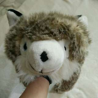 Animal Hat (white, gray, and brown)