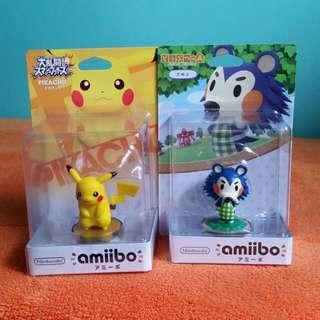 Nintendo Amiibo Mabel / Pikachu Figure Wii U 3DS